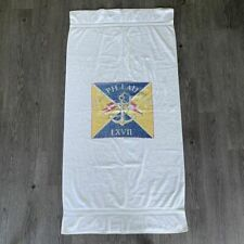 Polo Ralph Lauren LXVII Anchor Flag Beach Towel Blanket Vintage 80s Made in USA