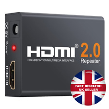 Repetidor Hdmi 4K Amplificador de señal Booster Extender Soporte 4K, 3D, 1080P Reino Unido