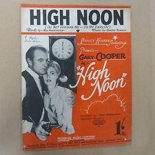 FICHE CHANSON high noon Gary Cooper, 1952