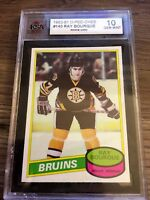 1980 81 OPC O-Pee-Chee #140 Raymond Bourque KSA 10 Rookie RC Boston Bruins Ray