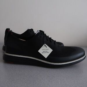 Cole Haan OriginalGrand Wingtip Oxford Black Knit Water Resistant C32434