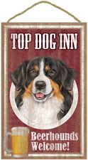 "Top Dog Inn Beerhounds Bernese Mountain Bar Sign Plaque dog pet 10"" x 16"" Beer"