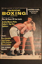 Cassius Clay MUHAMMAD vs SONNY LISTON Winter 1964 INSIDE BOXING Joe Louis Mag VG
