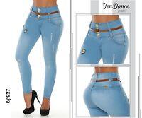 Jeans Colombianos levantacola push up Butt lifter fajas levanta pompi 4U055