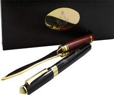 More details for personalised freemason masonic pen luxury 24k gold clad gift set letter opener