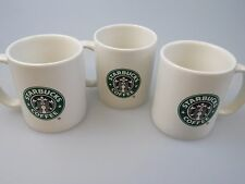 Lot of 3 STARBUCKS 12 OZ Mermaid Siren Green Black Old Logo Ceramic Mugs 2004