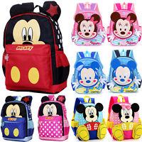 Kids Girls Boys Children Toddler School Lunch Bag Mickey Mouse Backpack Rucksack