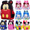 Kids Girls Boys Children Toddler School Lunch Bag Mickey Mouse Backpack Rucksack