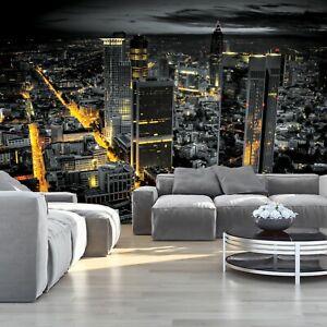 Vlies Fototapete NEW YORK 3D Skyline Nacht Stadt schwarz weiß Wohnzimmer MODERN