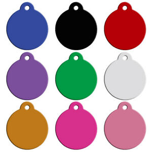 20pcs Blank Personalised Dog ID Tags Round Shape Pet Collar Custom Name Tag Disc