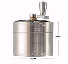 Herb Grinder 4-layer Aluminum Hand Crank Herbal Herb Tobacco Grinder