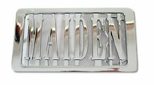 IRON MAIDEN CUT OUT NAME LOGO CHROME METAL BELT BUCKLE NEW OFFICIAL LICENSED