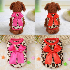 Clothes for Pet Chihuahua Yorkie Teacup Dog Coat Jacket Coral Fleece Soft Warm