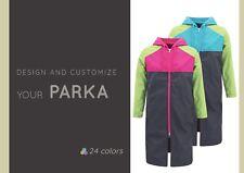 MD Swim Parka Repellent Coat, Man, Woman, Personalized, Polar Lining, 24 Colors