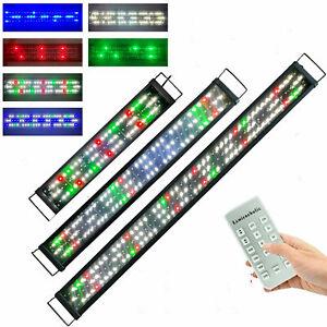 Aquarium LED lighting Full Spectrum Over Head Cover RF Remote Control Adjustable