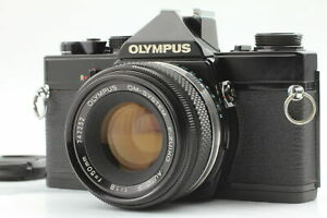 [Near MINT] Olympus OM-1 Black 35mm SLR Camera Zuiko Auto-S 50mm F1.8 Lens JAPAN