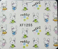 Accessoire ongles: nail art - Stickers autocollants - Petits lapins - rabbit