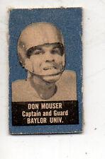 1950 Topps Feltback Football Card #59 Don Mouser-Baylor
