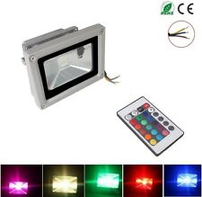 2X 10W RGB LED Flood Light Spotlight 16 Color Changing for Home Garden Hotel new