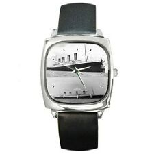 TITANIC & OLYMPIC SHIP WATCH SQUARE WRISTWATCH **LOVELY ITEM**