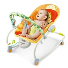 Electric Rocker Baby Swing Infant Portable Cradle Bouncer Seat Sway Chair Home H