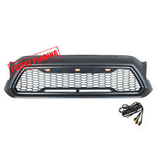 2012 2015 Toyota Tacoma LED Black Grille ABS Front Hood Grill W/ Wire Harness