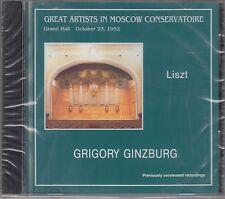 GINZBURG, GRIGORY Liszt Annees de Pelerinage, Schubert's Songs, Paganini's Etude