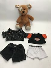 "Build a Bear 16"" Plush Bear w/ Harley Davidson Shirt Jacket Underwear Pants"