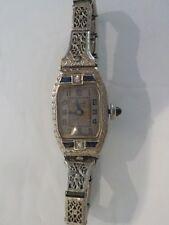 Ladies BULOVA Wristwatch 14 K White Gold Filigree Art Deco Band