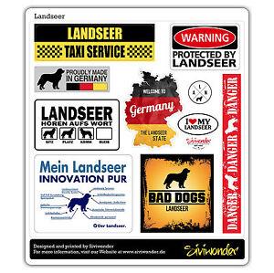 Auto Aufkleber Sticker LANDSEER COLLECTION DOG Sammlung reflex SIVIWONDER