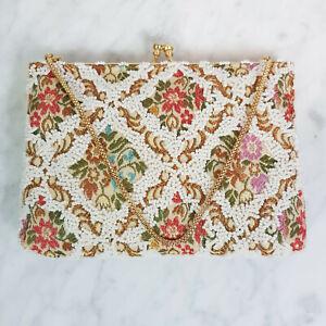 VINTAGE | Womens Beaded Tapestry Vintage Bag / Handbag
