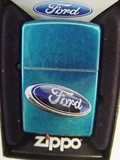 Zippo® Ford Logo  Auto Car Blau glänzend New / Neu OVP