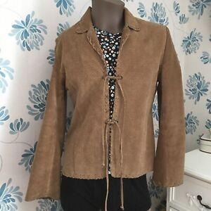 Vintage 90s Brown Suede Jacket By Paul Berman Size 12