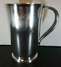 Antique Silver Plated Gorham Beer Drinks Tankard Mug Engraved P Hotel Pierre NY