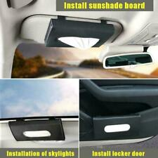 Sun Visor Car Facial Tissue Box Faux Leather Paper Holder Case Interior Parts