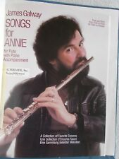 James Galway Songs for Annie Flute Piano Encore Pcs 2 Pts Unmarked