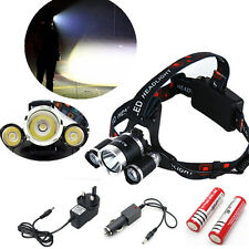 12000 LM 3 x CREE XML T6 LED Bicycle Head Light Rehargeable 18650 Headlamp Lot