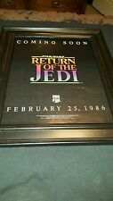 Star Wars Return Of The Jedi Rare Original Home Video Promo Poster Ad Framed!
