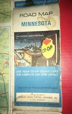 1970 Farmers Co-op Products Minnesota State Automotive Travel Road Map gas oil
