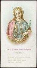 antico santino cromo-holy card S.CATERINA DI ALESSANDRIA V.M.