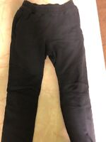 Authentic BALMAIN Navy Blue Biker Sweatpants