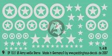 Peddinghaus 1/48 US Army White Stars (3 sizes with and without Circle) 1031