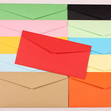 50pcs Colorful 220*105mm Paper Envelopes Party Invited Wedding Letter Invitation