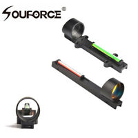 Red/Green Fiber Dot Reflex circle Sight Scope Sight For Shotgun Rib Rail Hunting
