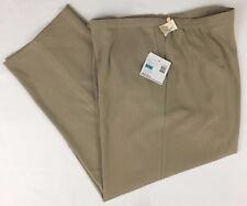 Sag Harbor Stretch Pants Career Dress Slacks Tan Buckwheat Woman Size 20W L29