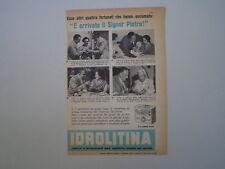 advertising Pubblicità 1958 IDROLITINA GAZZONI