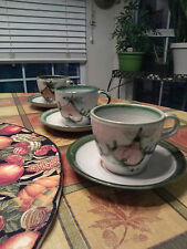 Vintage John B. Taylor Ceramics Harvest pattern cups and saucers. Early mark