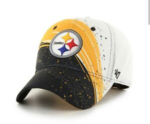 Pittsburgh Steelers hat cap stretch fit one size  new nwt '47 Brand solo NFL