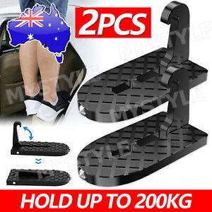 2xVehicle Access Roof Of Car Door Step Doorstep Rooftop Latch Pedal Hook Folding