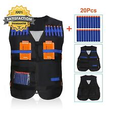 Yosoo Kids Elite Tactical Vest with 20pcs Soft Foam Darts for Nerf Gun N...